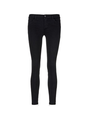 Main View - Click To Enlarge - J Brand - 'Luxe Sateen' zip cuff super skinny jeans