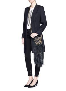 J Brand'Luxe Sateen' zip cuff super skinny jeans
