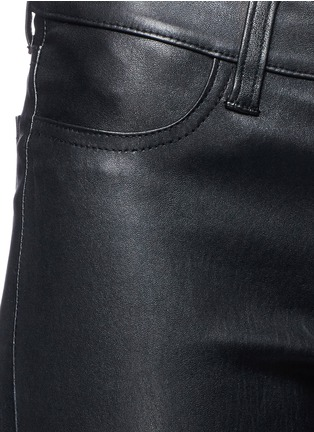 Detail View - Click To Enlarge - J Brand - Distressed leather skinny pants