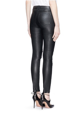 Back View - Click To Enlarge - J Brand - Distressed leather skinny pants