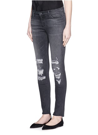 Front View - Click To Enlarge - J Brand - 'Skinny Leg' mid rise close cut jeans