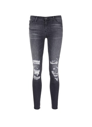 Main View - Click To Enlarge - J Brand - 'Skinny Leg' mid rise close cut jeans