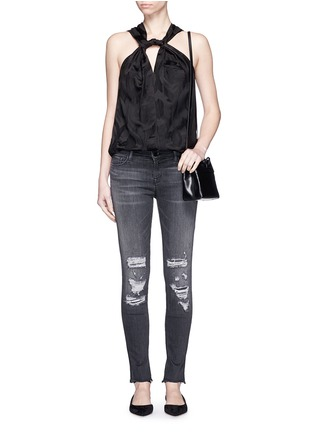 Figure View - Click To Enlarge - J Brand - 'Skinny Leg' mid rise close cut jeans