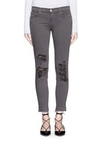 'Photo Ready' distressed cropped skinny jeans