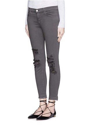 Front View - Click To Enlarge - J Brand - 'Photo Ready' distressed cropped skinny jeans
