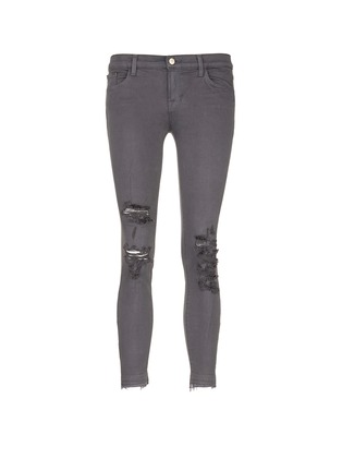 Main View - Click To Enlarge - J Brand - 'Photo Ready' distressed cropped skinny jeans