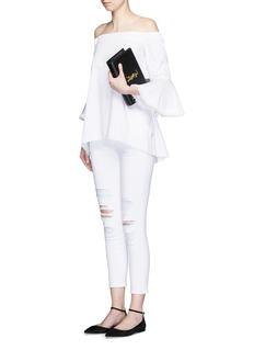 J BRAND'Capri' distressed cropped slim jeans