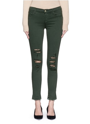 Detail View - Click To Enlarge - J Brand - 'Photo Ready Skinny Leg' distressed jeans
