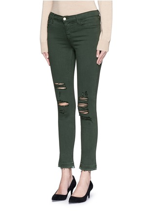 Front View - Click To Enlarge - J Brand - 'Photo Ready Skinny Leg' distressed jeans