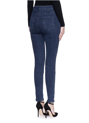 Back View - Click To Enlarge - J Brand - 'Natasha Sky High' high waist skinny jeans