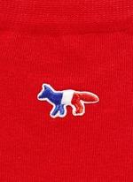 Fox logo appliqué cotton socks