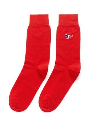 Maison Kitsuné-Fox logo appliqué cotton socks