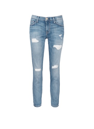 Main View - Click To Enlarge - Current/Elliott - 'The Fling' distressed cropped jeans