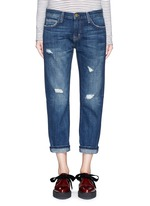 'The Boyfriend' distressed cropped jeans