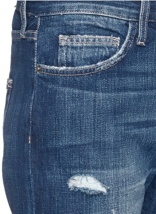 Detail View - Click To Enlarge - Current/Elliott - 'The Boyfriend' distressed cropped jeans
