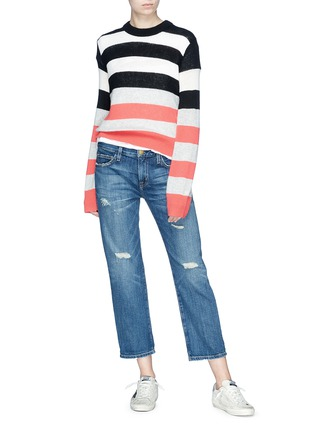 Figure View - Click To Enlarge - Current/Elliott - 'The Boyfriend' distressed cropped jeans