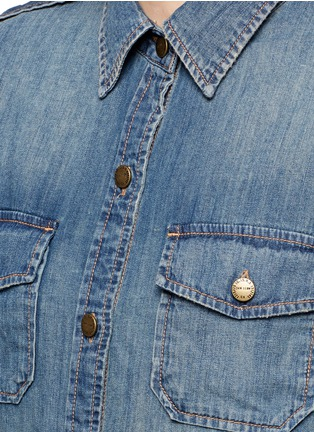 Detail View - Click To Enlarge - Current/Elliott - 'The Perfect Shirt' cotton denim shirt