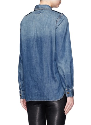 Back View - Click To Enlarge - Current/Elliott - 'The Perfect Shirt' cotton denim shirt