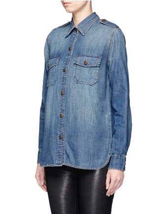 Front View - Click To Enlarge - Current/Elliott - 'The Perfect Shirt' cotton denim shirt