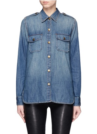 Main View - Click To Enlarge - Current/Elliott - 'The Perfect Shirt' cotton denim shirt