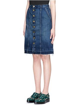 Current/Elliott-'Short Sally' cutoff hem button skirt