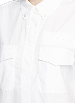 Detail View - Click To Enlarge - Equipment - 'Short Sleeve Major' poplin shirt