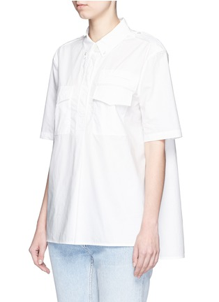 Front View - Click To Enlarge - Equipment - 'Short Sleeve Major' poplin shirt