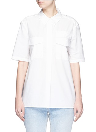 Main View - Click To Enlarge - Equipment - 'Short Sleeve Major' poplin shirt