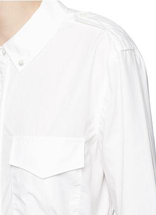 Detail View - Click To Enlarge - Equipment - 'Major Maxi' sash tie poplin shirt dress