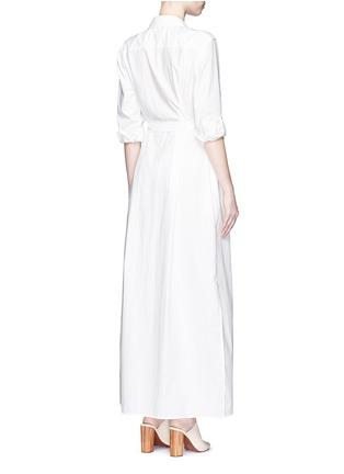 Back View - Click To Enlarge - Equipment - 'Major Maxi' sash tie poplin shirt dress