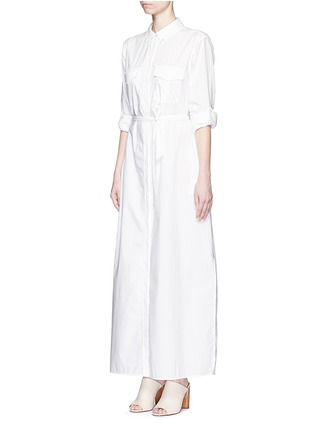 Front View - Click To Enlarge - Equipment - 'Major Maxi' sash tie poplin shirt dress