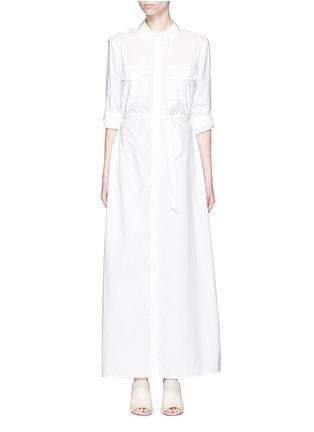 Main View - Click To Enlarge - Equipment - 'Major Maxi' sash tie poplin shirt dress