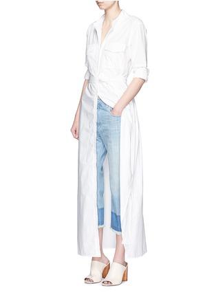 Figure View - Click To Enlarge - Equipment - 'Major Maxi' sash tie poplin shirt dress