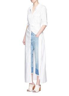 EQUIPMENT'Major Maxi' sash tie poplin shirt dress