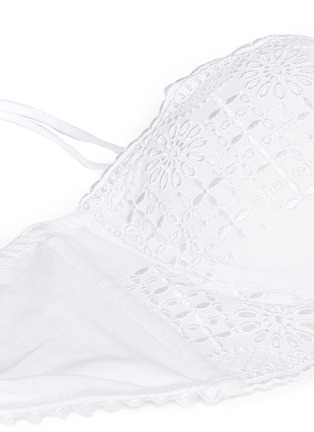 Detail View - Click To Enlarge - La Perla - 'Sangallo' broderie anglaise longline balconette bra