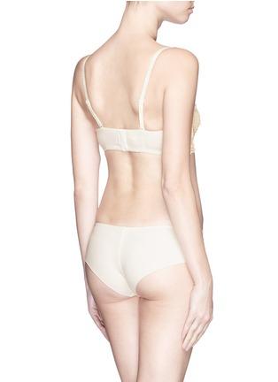 Back View - Click To Enlarge - La Perla - 'Petite Macramé' lace underwired bandeau bra