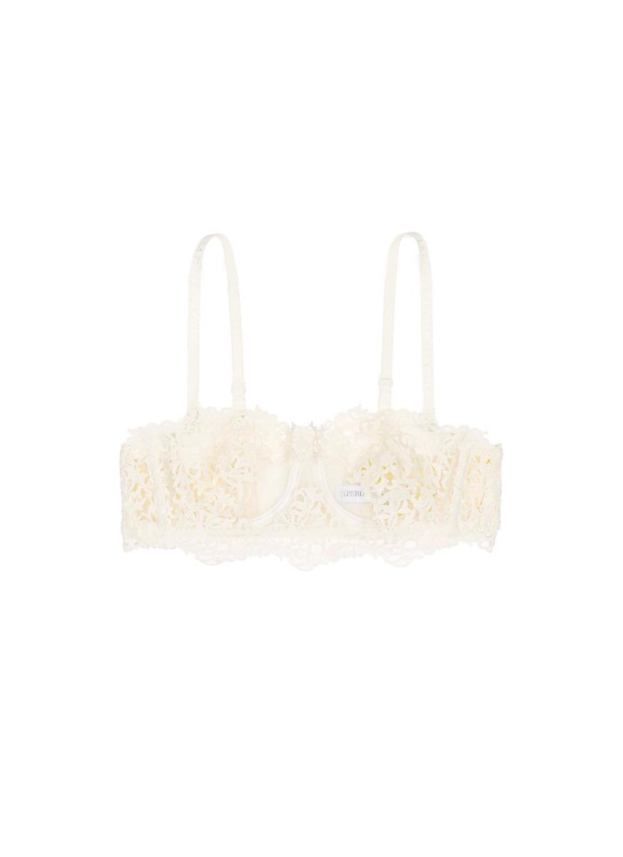Petite Macramé lace underwired bandeau bra by La Perla