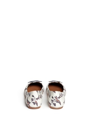 Back View - Click To Enlarge - Tory Burch - Sparrow appliqué floral print ballet flats