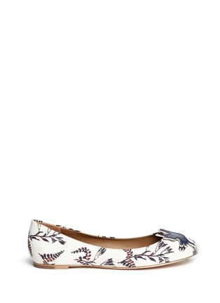 Main View - Click To Enlarge - Tory Burch - Sparrow appliqué floral print ballet flats