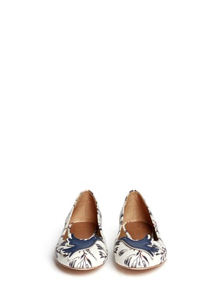 Figure View - Click To Enlarge - Tory Burch - Sparrow appliqué floral print ballet flats