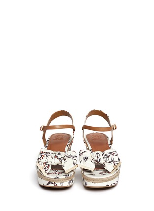 Figure View - Click To Enlarge - Tory Burch - 'Penny' floral print canvas wedge sandals