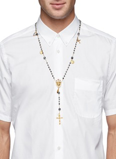 Dolce & Gabbana Sacred heart charm Rosary necklace