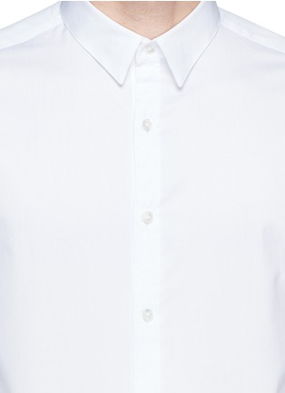 Detail View - Click To Enlarge - Theory - 'Zack' cotton piqué shirt