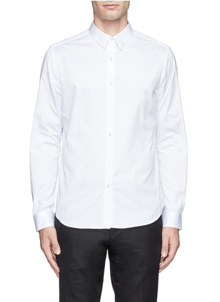 Main View - Click To Enlarge - Theory - 'Zack' cotton piqué shirt
