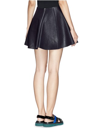 Back View - Click To Enlarge - Opening Ceremony - 'Dakota' leather flare skirt