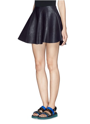 Front View - Click To Enlarge - Opening Ceremony - 'Dakota' leather flare skirt