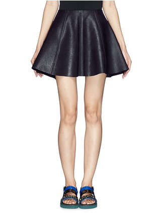 Main View - Click To Enlarge - Opening Ceremony - 'Dakota' leather flare skirt
