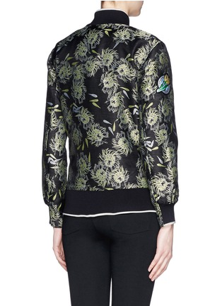 Back View - Click To Enlarge - Opening Ceremony - 'Anemone' jacquard classic varsity jacket