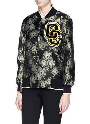 Front View - Click To Enlarge - Opening Ceremony - 'Anemone' jacquard classic varsity jacket