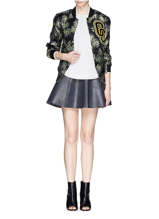 Figure View - Click To Enlarge - Opening Ceremony - 'Anemone' jacquard classic varsity jacket